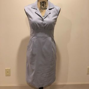Ann Taylor Collared, Pocketed Business Grey Dress
